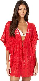 Jessica Simpson Miami Stripe Crochet Cover-Up