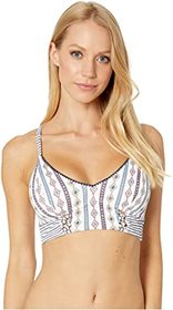 Jessica Simpson Moroccan Stripe Cropped Cami Top