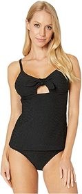 Jessica Simpson Rose Bay Tie Front Tankini Top