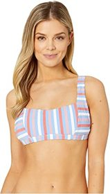 Jessica Simpson Miami Stripe Thick Strap Retro Bra