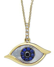EFFY® Mother-of-Pearl, Sapphire (1/10 ct. t.w.) &