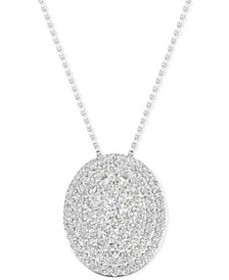 Diamond Oval Cluster Pendant Necklace (1/2 ct. t.w