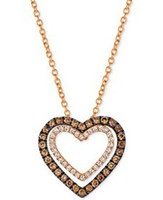 Chocolatier® Diamond Heart Pendant Necklace (1/3 c