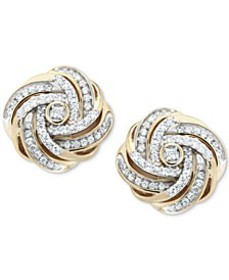 Diamond Love Knot Stud Earrings (1/2 ct. t.w.) in