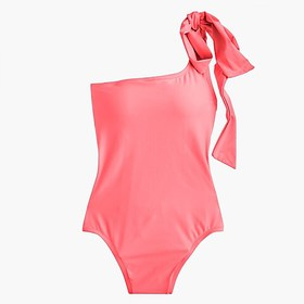 J. Crew Bow-tie one-shoulder one-piece swimsuit