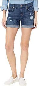 7 For All Mankind Relaxed Mid Roll Shorts in Broke