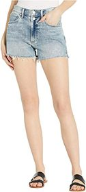 Lucky Brand Mid-Rise Relaxed Shorts in Flirt Fray
