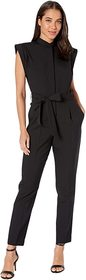 7 For All Mankind Sleeveless Tailor Jumpsuit in Je