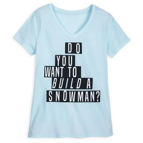 Disney Frozen ''Build a Snowman'' T-Shirt for Wome