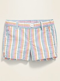 Pull-On Seersucker Shorts for Toddler Girls