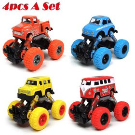 Pull Back Cars, 4 Pull Back Vehicles Toy Cars Set
