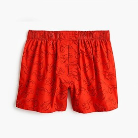 J. Crew Red lobster print boxers