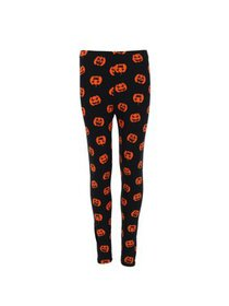 Just One Girl's Pumpkin Print Leggings