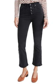 Madewell Cali Button Front Demi-Bootcut Crop Jeans