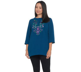 """As Is"" Linea by Louis Dell'Olio Crepe Gauze Top w"