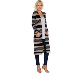 """As Is"" Laurie Felt Cashmere Blend Duster Cardigan"