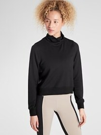 Cropped Funnel Neck in Nirvana