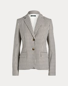 Ralph Lauren Check Cotton-Blend Blazer
