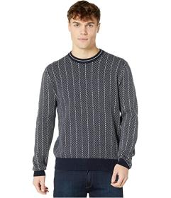 Ben Sherman Diamond Jacquard Crew Sweater