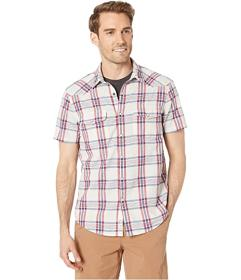 Lucky Brand Short Sleeve Plaid Western Shirt
