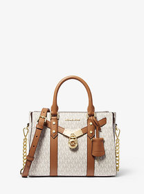 Michael Kors Nouveau Hamilton Small Logo and Leath
