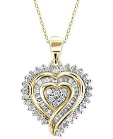 Diamond Heart Pendant Necklace (1/2 ct. t.w.) in 1