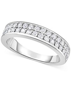Diamond Double Row Band (3/4 ct. t.w.) in 14k Whit