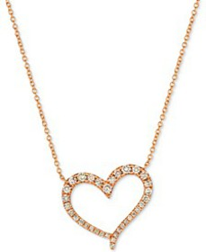 "Strawberry & Nude™ Diamond 18"" Pendant Necklace (1"