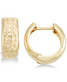 Textured Wide Huggie Hoop Earrings