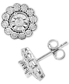 Diamond Flower Stud Earrings (1/3 ct. t.w.) in Ste
