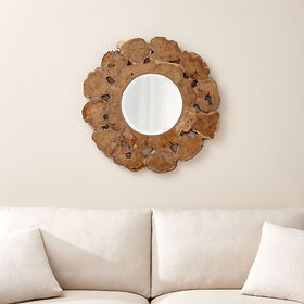 Crate Barrel Root Round Wall Mirror