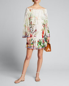 Camilla Tiered Off-Shoulder Ruffle Dress