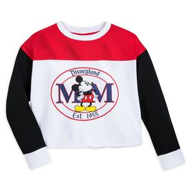 Disney Mickey Mouse Long Sleeve Cropped T-Shirt fo
