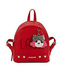 Love Moschino Heart-Stud Backpack RED