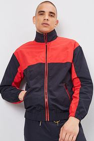 Forever21 Colorblock Zippered Windbreaker
