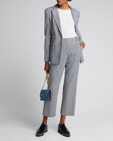 Derek Lam 10 Crosby Rodeo Double-Breasted Gingham