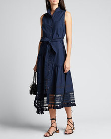 Derek Lam 10 Crosby Nerioa Lace-Inset Maxi Dress