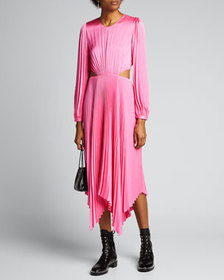 A.L.C. Naples Pleated Cutout Handkerchief Dress