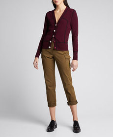 Ganni Piped Cashmere Cardigan