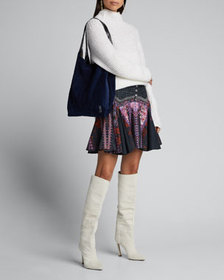 Camilla Printed Godet Mini Skirt with Yoke