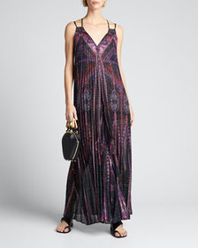 Camilla Pleated Sleeveless Jumpsuit with Yoke