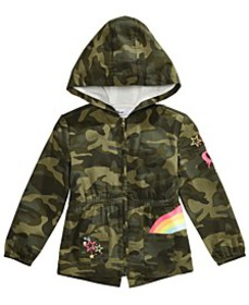 Toddler Girls Cotton Hooded Camo Jacket, Created F