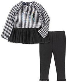 Toddler Girls 2-Pc. Houndstooth Peplum Tunic & Leg