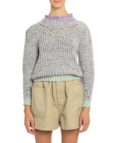 Etoile Isabel Marant Lotiya Cotton Turtleneck Swea