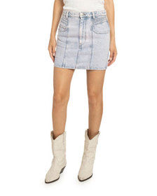 Etoile Isabel Marant Hondo Acid-Washed Denim Skirt