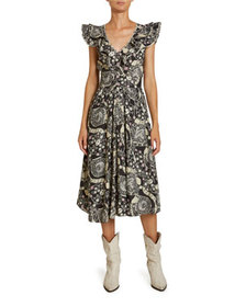 Etoile Isabel Marant Coraline Abstract Paisley Pri