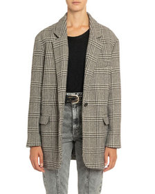 Etoile Isabel Marant Ondine Plaid Single-Button Ja