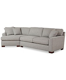 CLOSEOUT! Carena 2-Pc. Fabric Sectional Sofa with