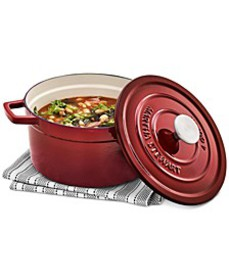 4-Qt. Enameled Cast Iron Round Dutch Oven, Created