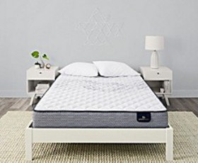 Perfect Sleeper Keagan 10'' Firm Mattress Set- Que